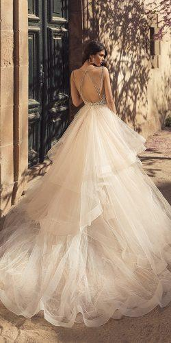 wedding dresses spring 2020 ball gown ruffled skirt with train julievino