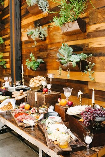 wedding ideas cheese prosciutto station