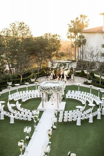wedding ideas circular wedding ceremony seating