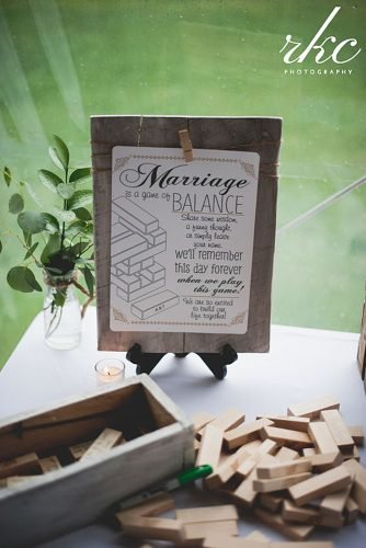 wedding ideas jenga guest book