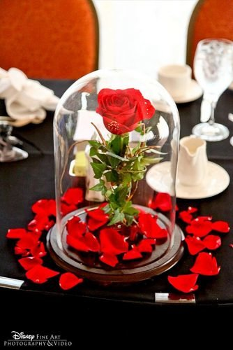 wedding ideas rose cloche centerpiece