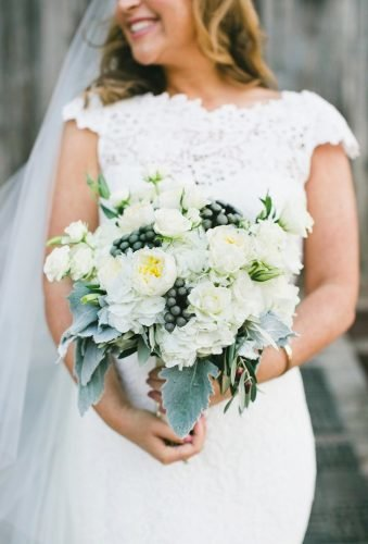 white wedding bouquets inspiration rustic bouquet onelove photography