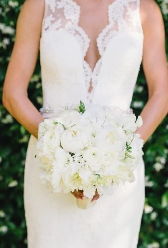 white wedding bouquets inspiration tender wedding peonies Caitlin O'Reilly Photography