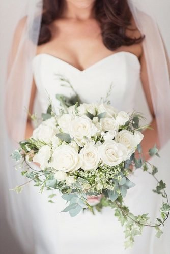 white wedding bouquets inspiration white brides bouquet Craig Eva Sanders Photography