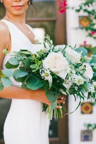 white wedding bouquets inspiration white green bouquet onelove photography