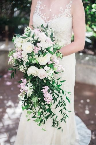 bridal bouquet shapes cascade wedding bouquet Eli Turner Studios