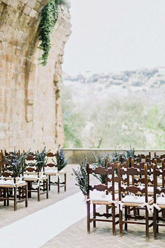 castle wedding ceremony outdoor decor Facibeni Fotografia
