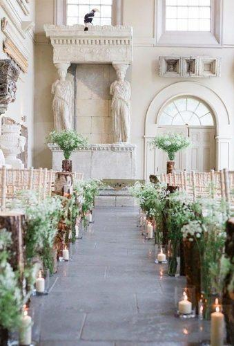 castle wedding greenery ceremony decor savvyweddingdecor