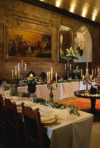 castle wedding reception decor borthwickcastle