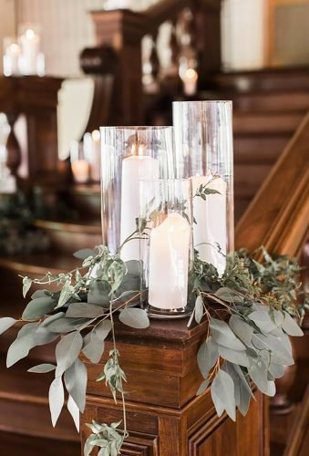 church wedding decorations cansde decor Corners Photography