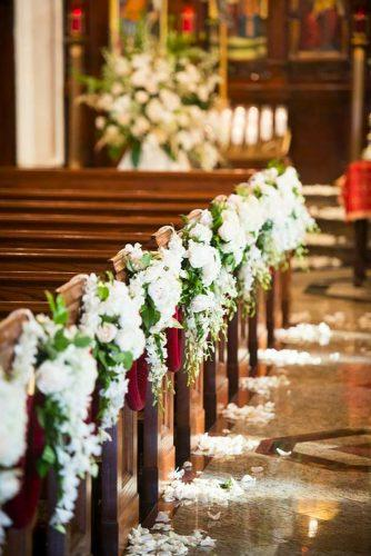 church wedding decorations white church decor Brian Hatton