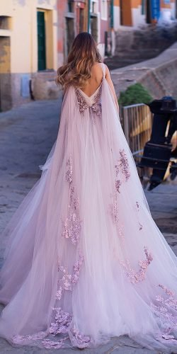 disney wedding dresses ball gown with cape purple rapunzel ange etoiles