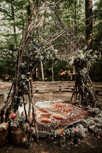 forest wedding theme forest ceremony decor India Earl