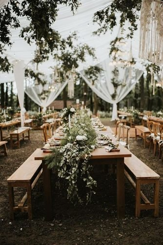 forest wedding theme forest reception Iluminen