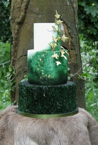 forest wedding theme green wedding cake debbiegillespiecakedesign