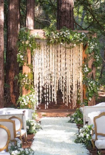 forest wedding theme wedding ceremony decoration sylviegilphotography