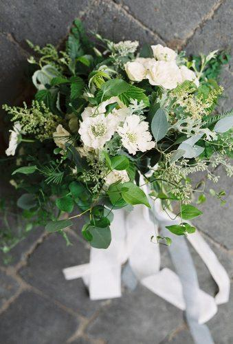 green wedding florals bouquet with white tape bluerosepictures