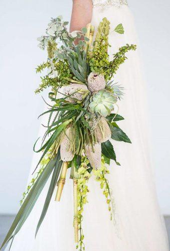 green wedding florals cascade bouquet bluecheriphotography