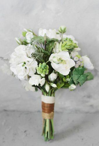 green wedding florals green white bouquet clayart tiare