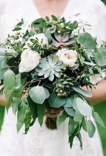 green wedding florals trendy bouquet anightinbloom