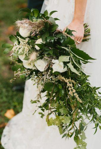 green wedding florals white green cascade bouquet brett seay