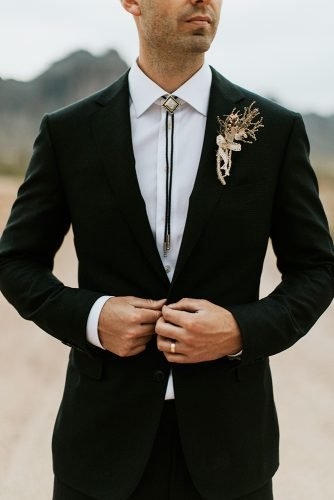 groom suits black jacket with boutonniere dane roy