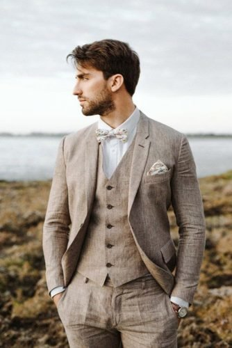 groom suits jacket with bow tie country elisabetta redaelli