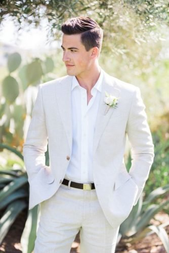 groom suits white with boutonniere country pinkerton photo
