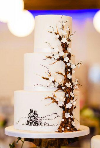 handpainted wedding cakes cake with tree allaboutewe