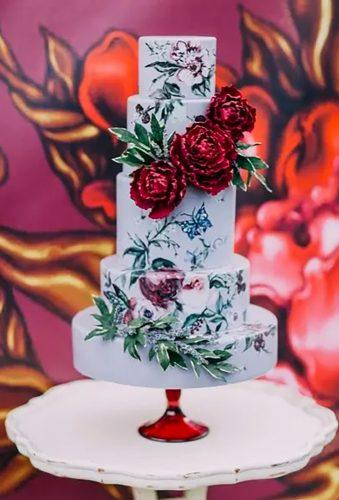 handpainted wedding cakes floral cake Created by Nadia
