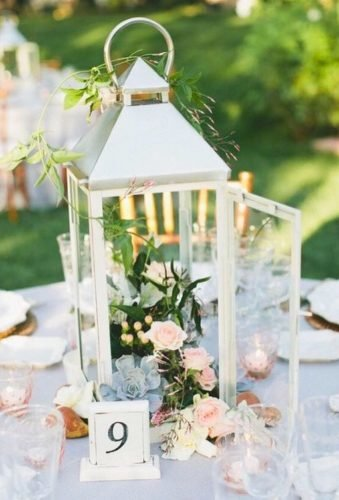 lantern wedding centerpiece ideas lanter with flowers dekoracje konstancin