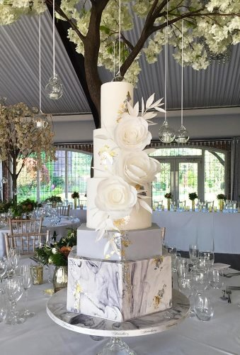 marble wedding cakes gentle white flowers bloomsbury cakes