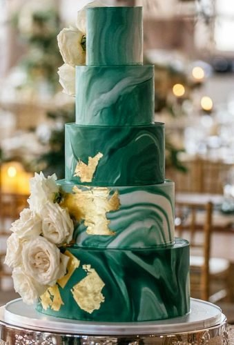 marble wedding cakes green cake with metallic absoluteevent