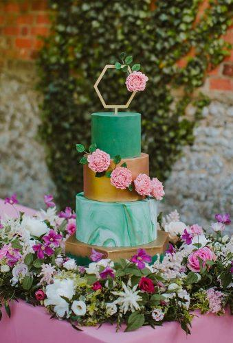 marble wedding cakes green gold cake sambennettphoto