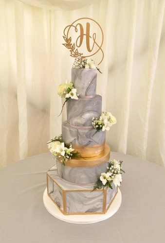 marble wedding cakes grey cake monogram alexdowsecrumbscakery