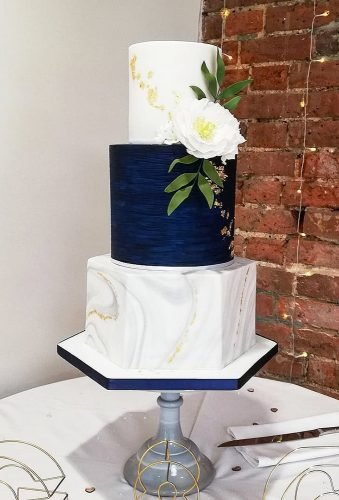 marble wedding cakes minimalist blue cake loveweddingcakes