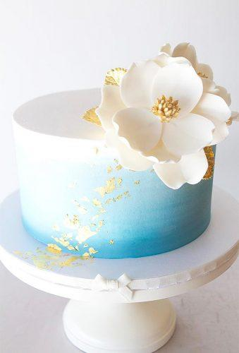 mini wedding cakes tender white blue cake The Pastry Studio