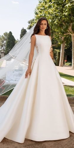 modest wedding dresses a line sleveless country pronovias