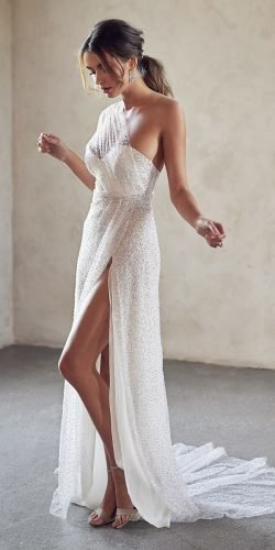 sexy wedding dresses ideas sheath sweeetheart neckline sequins annacampbell