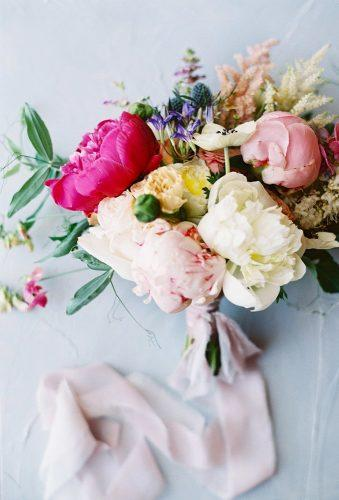 small wedding bouquets colorful summer bouquet Carmen Santorelli Photography
