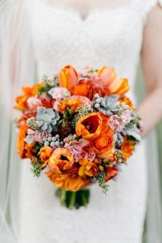 small wedding bouquets fall wedding bouquet Emily Wren Photography