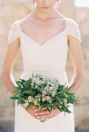 small wedding bouquets green white bouquet Caroline Tran