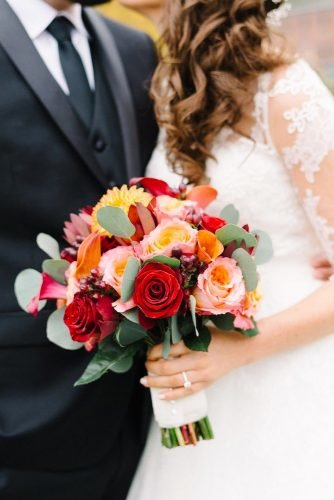 small wedding bouquets small fall bouquet Michelle Lange Photography