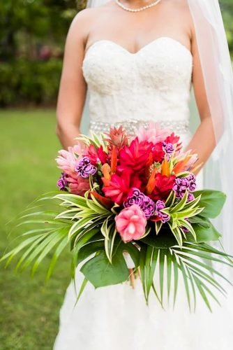 tropical wedding bouquets beautiful bouquet Jennifer Lourie