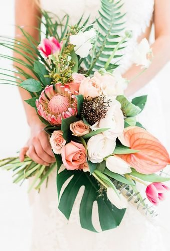 tropical wedding bouquets elegant bouquet photographybyrachelelaine