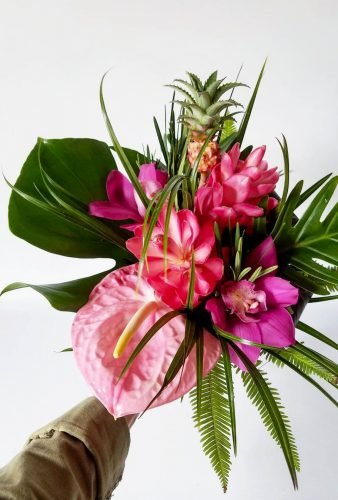 tropical wedding bouquets simple floral bouquet wyldflour
