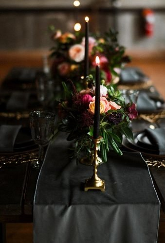 velvet wedding decor black table decor austinhyler
