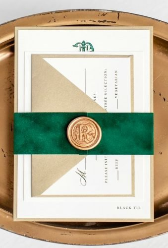 velvet wedding decor invitations green velvet secondcitystationery