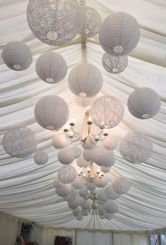wedding hanging installations whitepaper lanterns art zodiac