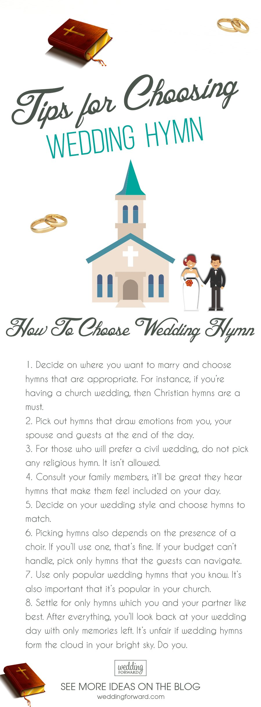 wedding hymns tips for choosing wedding hymn